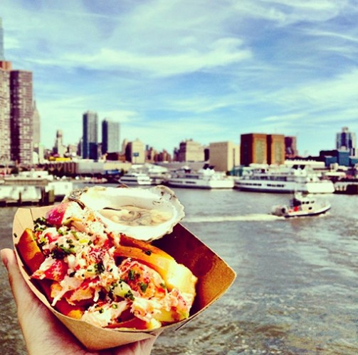 A very scenic lobster roll. Photo: