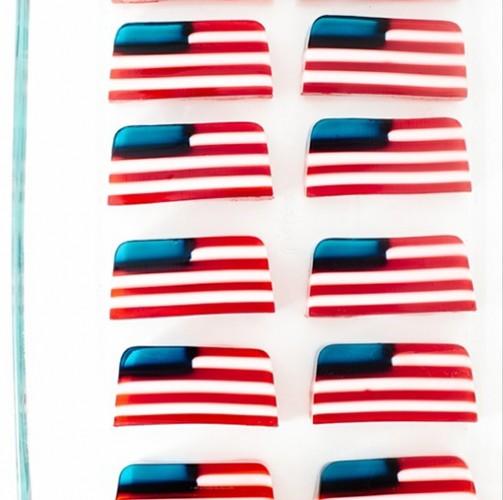 American flag Jell-O = work of art. Photo: