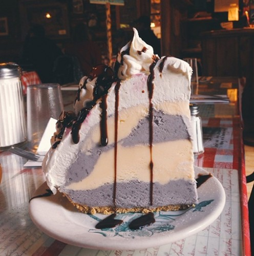 This mile-high huckleberry ice cream pie is a beaut. Photo: