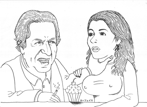 """Charles Saatchi vs Nigella Lawson"" (Photo: Saatchi Art/Carface Margybab)"