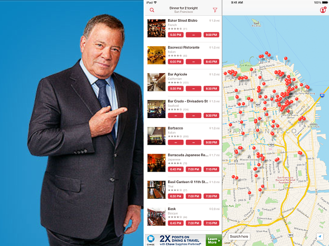Images: Priceline and OpenTable