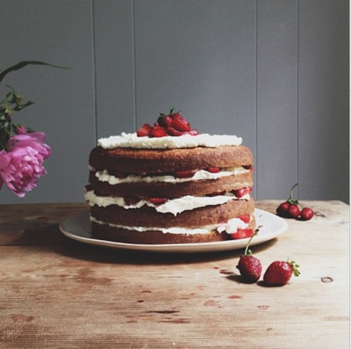 Strawberry shortcake layer cake is what's up. Photo: