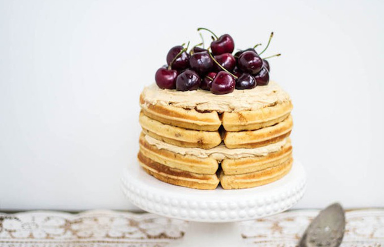 Brown Butter Waffle Cake + Sorghum Meringue Buttercream. Waffles are extremely flexible—so much so that they can become your new favorite cake. This is the cake to make for the breakfast lovers in your life, and the best part is it looks like it takes a lot more work than it does.