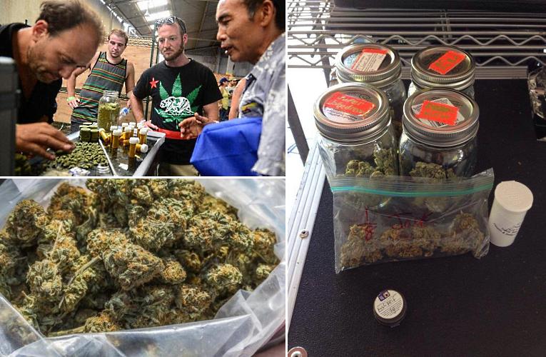 Photos: Twitter/@NYDailyNews, Twitter/@bluzybiker, Facebook/London Cannabis Club