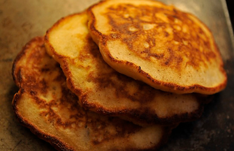 Perfect Pancakes. A pancake shouldn't always depend on syrup, and here's a terrific example of one that does not.