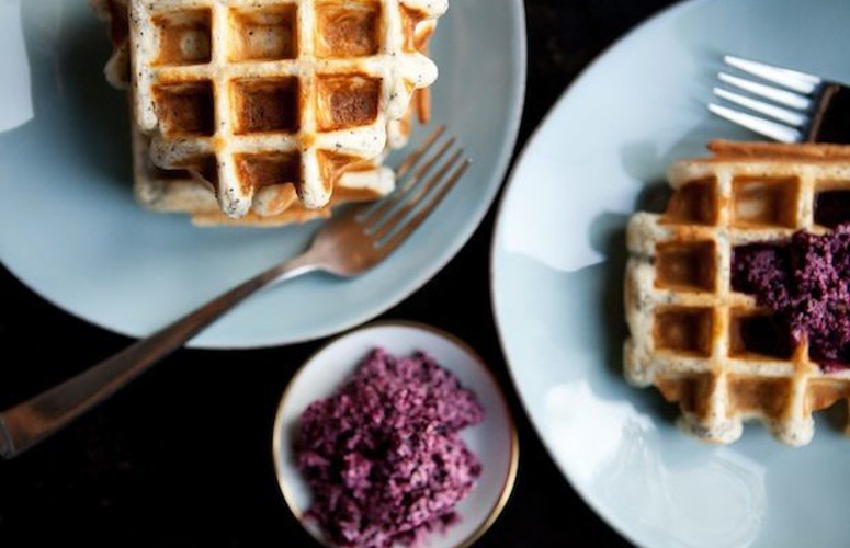 Weekday Waffles with Maple-Blueberry Butter. These hearty, seed-packed waffles are perfect for weekday breakfasts that will keep you energized. Smear them generously with the maple-blueberry butter—a.k.a., the spread that combines all the things you want on your waffle (or pancake) anyway.