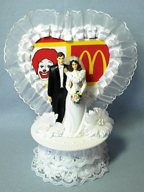 mcdonalds wedding topper