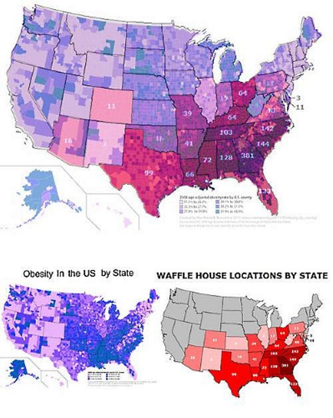 Suprise: Map Shows Greater Incidence of Obesity In States ...