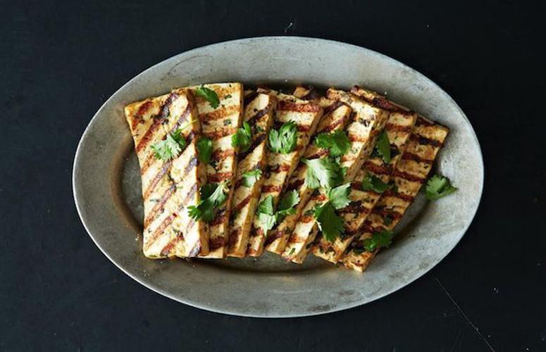Grilled Peanut Tofu. This tofu, marinated in a slightly spicy peanut ...