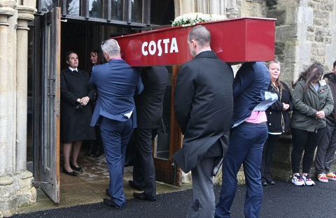 costa coffee coffin 2