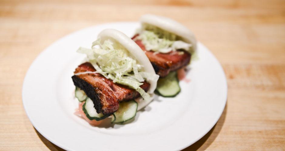 Brisket buns - horseradish, pickled red onion, cucumber | Ty Hatfield