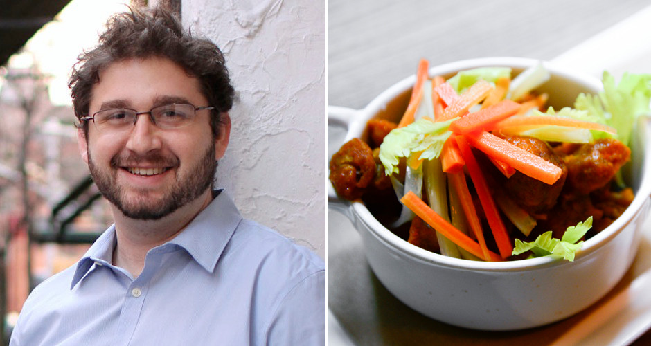 Jesse Schenker and his Buffalo sweetbreads at Gander (photos: courtesy Recette, Liz Barclay)