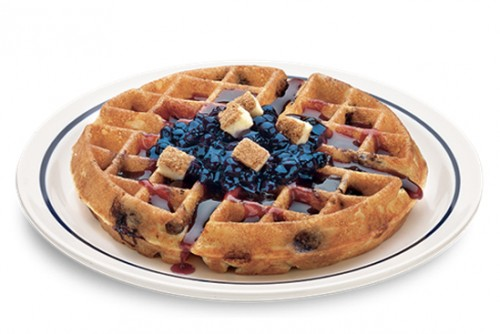 Very Blueberry Cheesecake Waffullicious Waffle. Photo: iHOP
