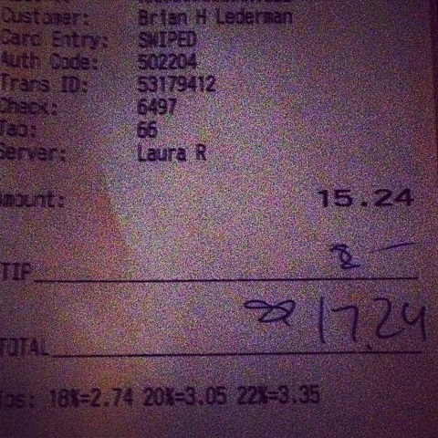lederman receipt