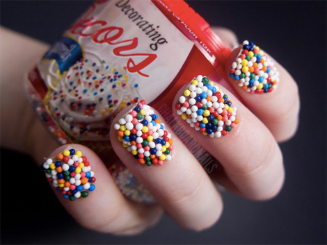 Enter the weird and wonderful world of food inspired nail art photo chalkboard nails prinsesfo Images