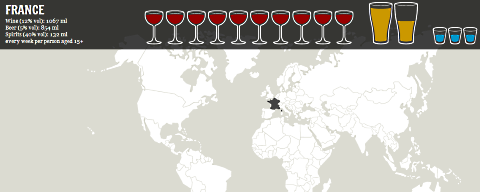 world booze map france