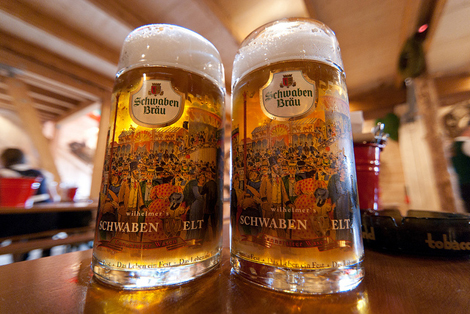 Steins at Stuttgart Oktoberfest. (Photo: Flickr/ LenDog64)