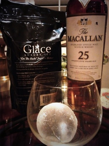 Spherical ice cubes by Glace, another artisanal ice company. (Photo: Glace Luxury Ice)