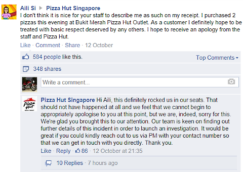 pizza hut singapore facebook