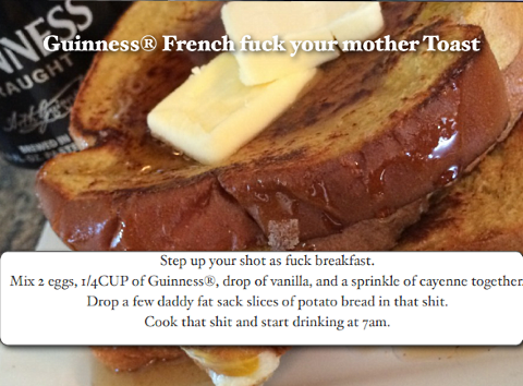 vulgar chef guinness french toast