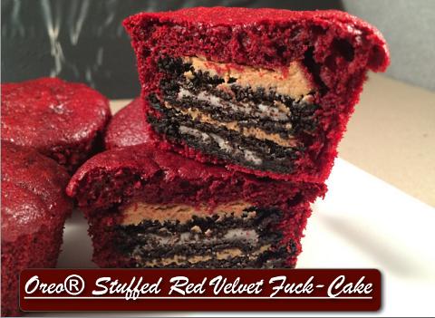 vulgar chef oreo stuffed red velvet fuck cake