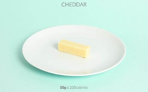 calorific cheddar cheese
