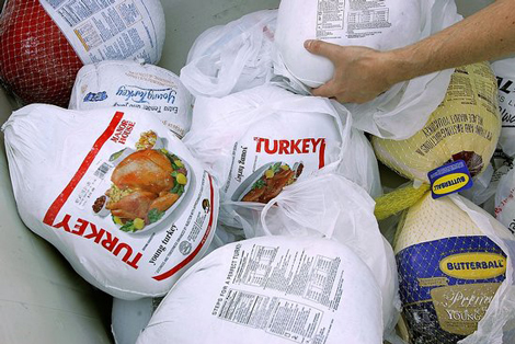 first_we_feast_frozen_buying_turkey_grocery_store