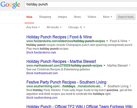 google holiday punch
