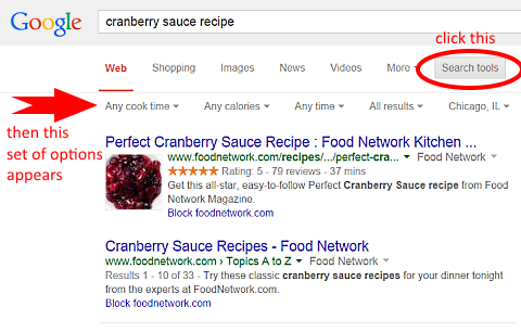 google recipes cranberry sauce demonstration