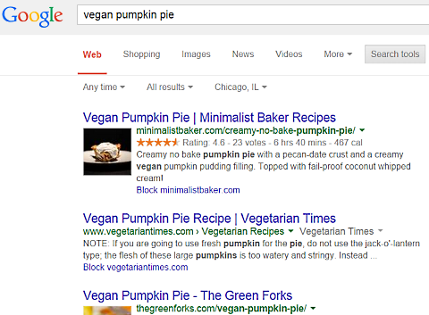 google vegan pumpkin pie 1