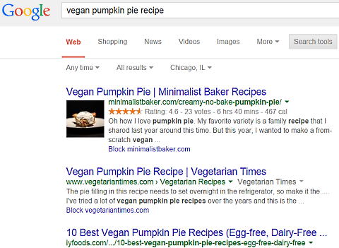 google vegan pumpkin pie 2