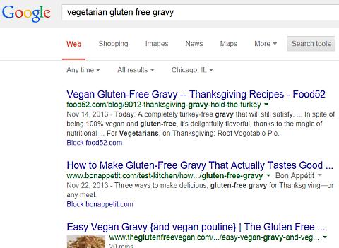 google vegetarian gluten free gravy 1