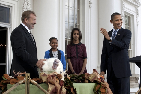 The President pardoning the National Thanksgiving Turkey in 2011. (Photo: The White House blog)