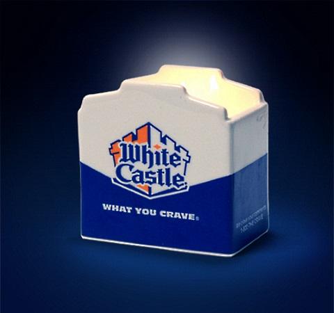candles white castle slider