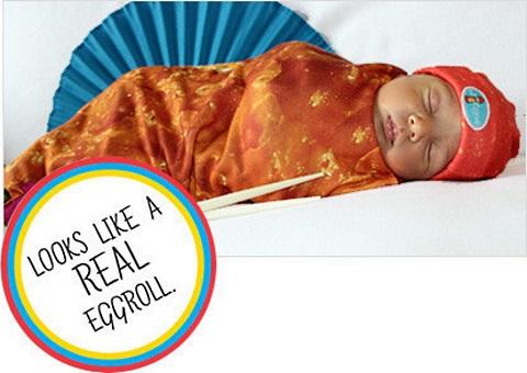 swaddle baby eggroll