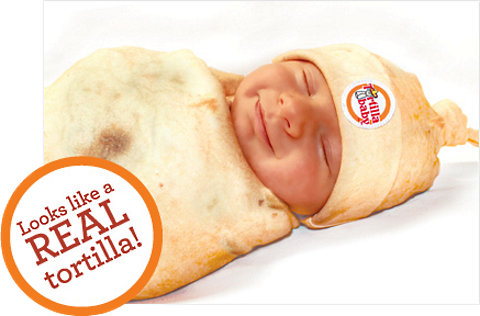 swaddle baby tortilla 1