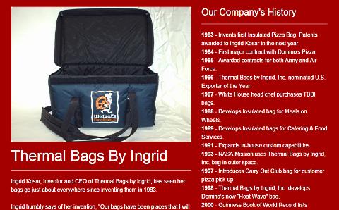 thermal bags by ingrid website screenshot