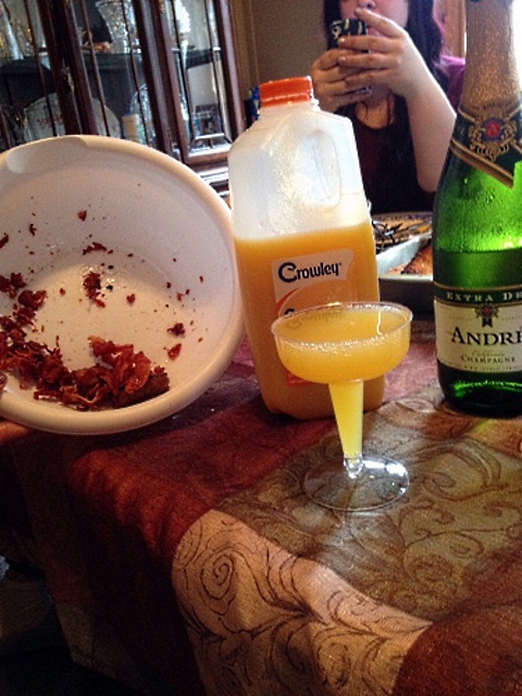 xmas struggles bacon n mimosas