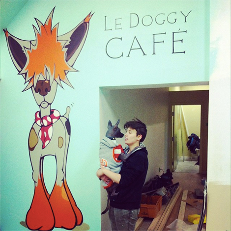 Le Doggy Cafe under construction. (Photo: Facebook/ Le Doggy Cafe)