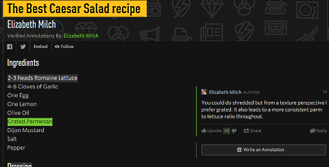 genius recipe annotated