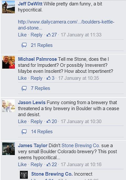 stone brewing hypocrite claim