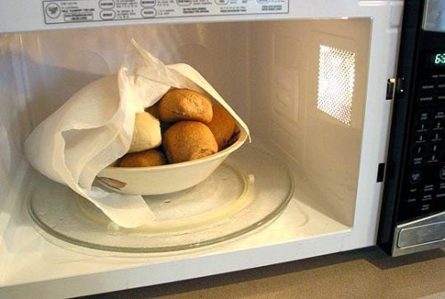 Microwave bread