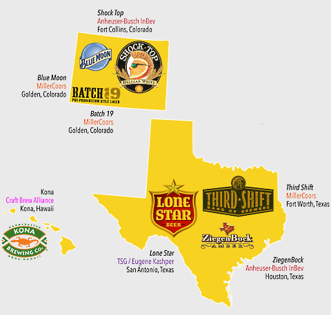 beer company map co tx hi