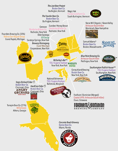 beer company map east