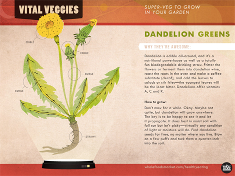 A Whole Foods fact sheet about dandelion greens. (Photo: Whole Foods)