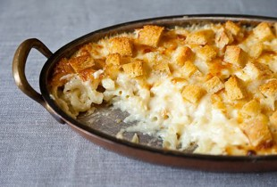 Martha Stewart's Macaroni and Cheese. A genius recipe for perfectly creamy baked macaroni and cheese that puts the boxed stuff to shame, adapted slightly from The Martha Stewart Living Cookbook: The Original Classics. Get the recipe.