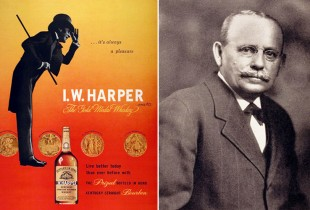 Bernheim's I.W. Harper brand helped to launch a stateside bourbon revolution in the 1880s while masking the popular drink's Jewish heritage. (Photo: Fading Ad, Sipp'n Corn)