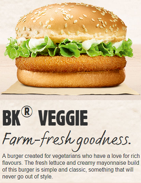 recipe: burger king veggie burger nutrition facts [18]