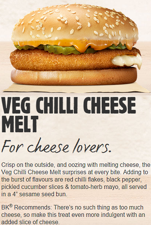 bk india veg chilli cheese melt
