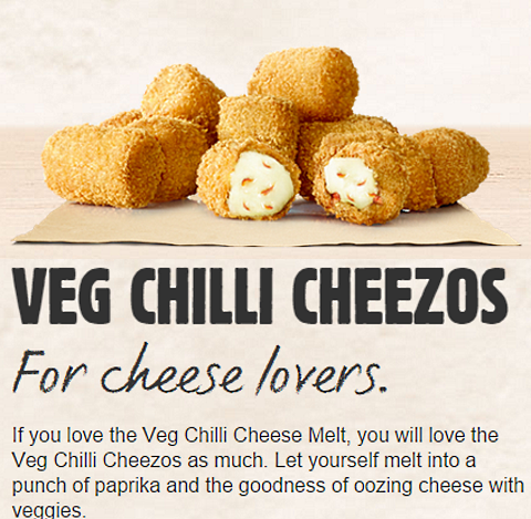 bk india veg chilli cheezos